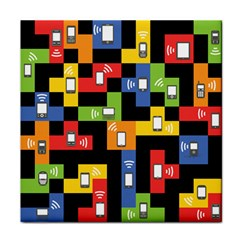 Mobile Phone Signal Color Rainbow Tile Coasters