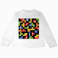 Mobile Phone Signal Color Rainbow Kids Long Sleeve T Shirts by Alisyart