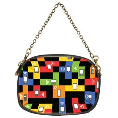 Mobile Phone Signal Color Rainbow Chain Purses (two Sides)