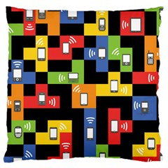 Mobile Phone Signal Color Rainbow Large Cushion Case (one Side) by Alisyart