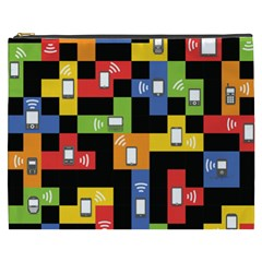 Mobile Phone Signal Color Rainbow Cosmetic Bag (xxxl)