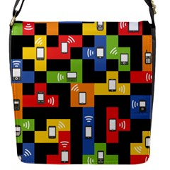 Mobile Phone Signal Color Rainbow Flap Messenger Bag (s) by Alisyart