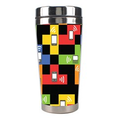Mobile Phone Signal Color Rainbow Stainless Steel Travel Tumblers by Alisyart