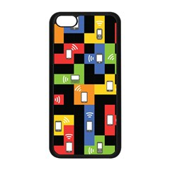 Mobile Phone Signal Color Rainbow Apple Iphone 5c Seamless Case (black) by Alisyart