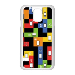 Mobile Phone Signal Color Rainbow Samsung Galaxy S5 Case (white)