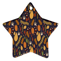 Macaroons Autumn Wallpaper Coffee Ornament (star) by Alisyart