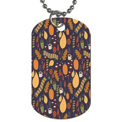 Macaroons Autumn Wallpaper Coffee Dog Tag (one Side) by Alisyart
