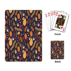 Macaroons Autumn Wallpaper Coffee Playing Card by Alisyart
