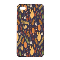 Macaroons Autumn Wallpaper Coffee Apple Iphone 4/4s Seamless Case (black)