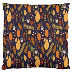 Macaroons Autumn Wallpaper Coffee Large Cushion Case (two Sides) by Alisyart