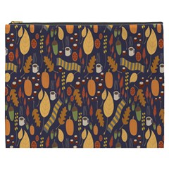 Macaroons Autumn Wallpaper Coffee Cosmetic Bag (xxxl)
