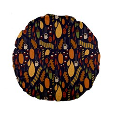 Macaroons Autumn Wallpaper Coffee Standard 15  Premium Round Cushions by Alisyart