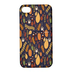 Macaroons Autumn Wallpaper Coffee Apple Iphone 4/4s Hardshell Case With Stand