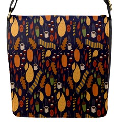 Macaroons Autumn Wallpaper Coffee Flap Messenger Bag (s) by Alisyart