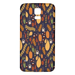 Macaroons Autumn Wallpaper Coffee Samsung Galaxy S5 Back Case (white) by Alisyart