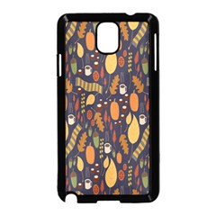 Macaroons Autumn Wallpaper Coffee Samsung Galaxy Note 3 Neo Hardshell Case (black)