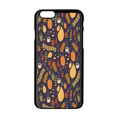 Macaroons Autumn Wallpaper Coffee Apple Iphone 6/6s Black Enamel Case by Alisyart