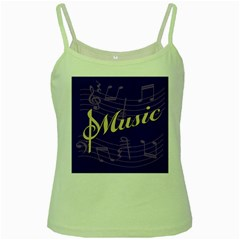 Music Flyer Purple Note Blue Tone Green Spaghetti Tank