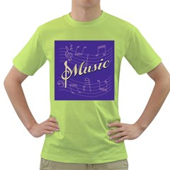 Music Flyer Purple Note Blue Tone Green T Shirt by Alisyart