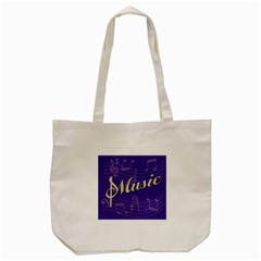 Music Flyer Purple Note Blue Tone Tote Bag (cream) by Alisyart