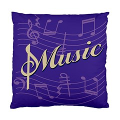 Music Flyer Purple Note Blue Tone Standard Cushion Case (two Sides) by Alisyart