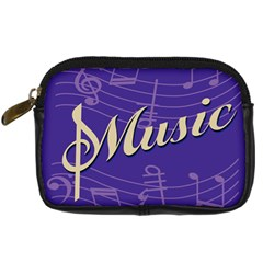 Music Flyer Purple Note Blue Tone Digital Camera Cases by Alisyart