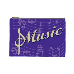 Music Flyer Purple Note Blue Tone Cosmetic Bag (large)  by Alisyart