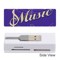 Music Flyer Purple Note Blue Tone Memory Card Reader (stick)