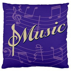 Music Flyer Purple Note Blue Tone Large Cushion Case (two Sides) by Alisyart