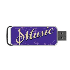 Music Flyer Purple Note Blue Tone Portable Usb Flash (one Side) by Alisyart