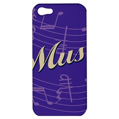 Music Flyer Purple Note Blue Tone Apple Iphone 5 Hardshell Case