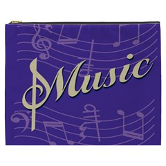 Music Flyer Purple Note Blue Tone Cosmetic Bag (xxxl)