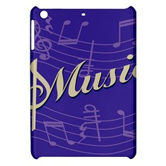 Music Flyer Purple Note Blue Tone Apple Ipad Mini Hardshell Case by Alisyart