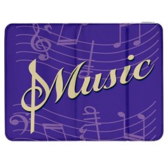 Music Flyer Purple Note Blue Tone Samsung Galaxy Tab 7  P1000 Flip Case