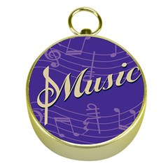 Music Flyer Purple Note Blue Tone Gold Compasses by Alisyart