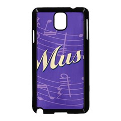 Music Flyer Purple Note Blue Tone Samsung Galaxy Note 3 Neo Hardshell Case (black)