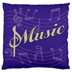 Music Flyer Purple Note Blue Tone Standard Flano Cushion Case (one Side) by Alisyart