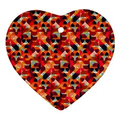 Modern Graphic Heart Ornament (two Sides) by Alisyart
