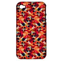 Modern Graphic Apple Iphone 4/4s Hardshell Case (pc+silicone)