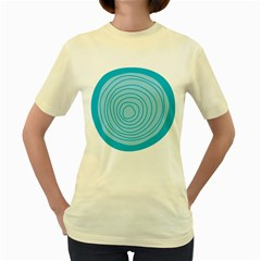 Mustard Logo Hole Circle Linr Blue Women s Yellow T Shirt by Alisyart