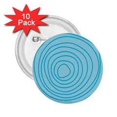 Mustard Logo Hole Circle Linr Blue 2 25  Buttons (10 Pack)