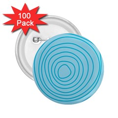 Mustard Logo Hole Circle Linr Blue 2 25  Buttons (100 Pack)  by Alisyart