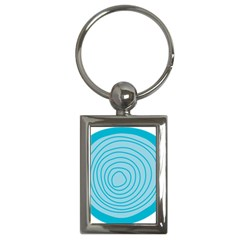 Mustard Logo Hole Circle Linr Blue Key Chains (rectangle)  by Alisyart