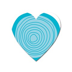Mustard Logo Hole Circle Linr Blue Heart Magnet by Alisyart