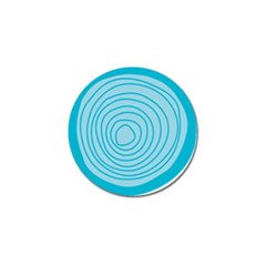 Mustard Logo Hole Circle Linr Blue Golf Ball Marker by Alisyart