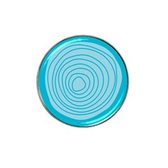Mustard Logo Hole Circle Linr Blue Hat Clip Ball Marker (10 Pack) by Alisyart