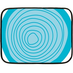 Mustard Logo Hole Circle Linr Blue Fleece Blanket (mini) by Alisyart