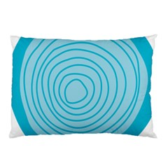 Mustard Logo Hole Circle Linr Blue Pillow Case (two Sides) by Alisyart