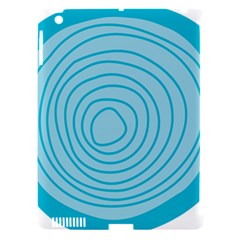 Mustard Logo Hole Circle Linr Blue Apple Ipad 3/4 Hardshell Case (compatible With Smart Cover) by Alisyart