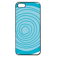 Mustard Logo Hole Circle Linr Blue Apple Iphone 5 Seamless Case (black)